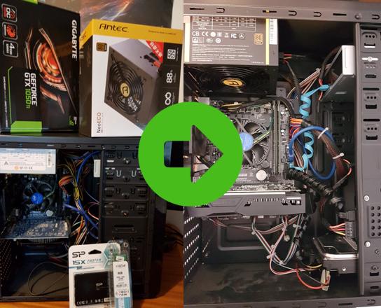 שירותי שדרוג מחשבים נייחים